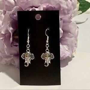 Boho Chic Elephant Head Earrings